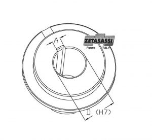 Torque limiter boring of lf-lfcor-lfsl-lfslcor hub