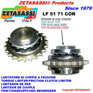 Light alloy torque limiter with plate wheel