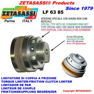 Torque limiter with special bushing