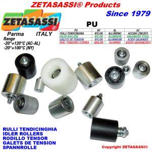 Idler rollers steel-aluminium-nylon