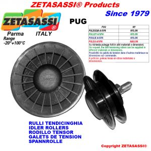 RIM PULLEY with bearings