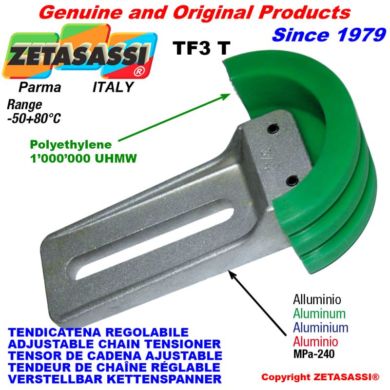 ADJUSTABLE CHAIN TENSIONER | ZETASASSI® Made in Italy