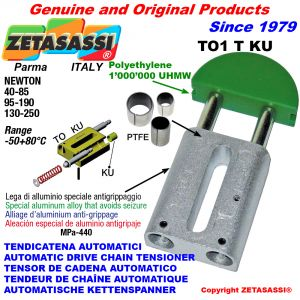 Linear drive chain tensioner (ptfe bushes)
