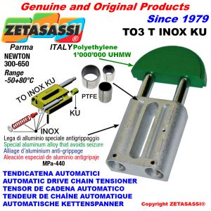 Inox linear drive chain tensioner (ptfe bushes)