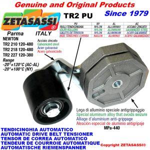 Rotary arm belt tensioner