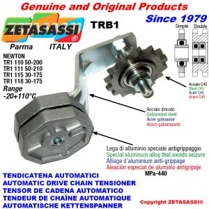 Rotary arm chain tensioner