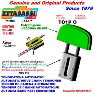 Linear drive chain tensioner