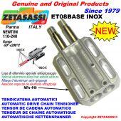 INOX SPRING TENSIONER ET08 BASE INOX out head Newton130:250-95:190