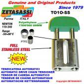 Tendeur de chaîne automatique linéaire entièrement en acier inoxydable to1-ss tête ovale newton110:240