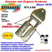 Completely in stainless steel automatic linear drive tensioner
