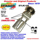 Completely in stainless steel AUTOMATIC LINEAR DRIVE CHAIN TENSIONER