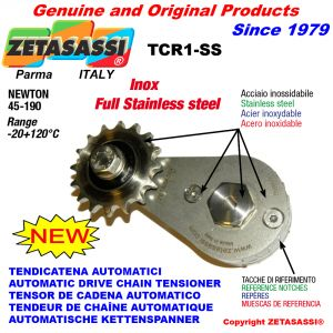 Completely in stainless steel arm chain tensioner